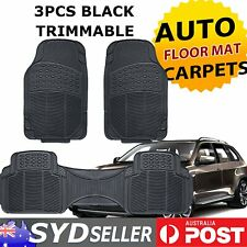Set of 3 Front & Rear Automotive Rubber Floor Mats For BMW X5 X3 X1  3 Series