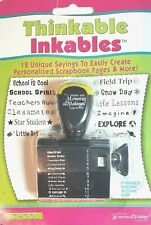 Thinkable Inkables ~ SCHOOL ~ Rubber Stamps 12 Unique Sayings for Scrapbooking