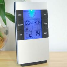 Digital LCD Temperature Humidity Meter Hygrometer Room Indoor Thermometer Clock-