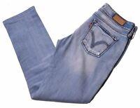 LEVI'S Womens 571 Jeans W30 L27 Blue Cotton Slim  IL09