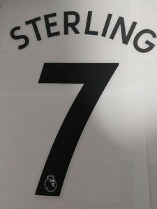 Manchester City Name set Player Size 2021-2022 Sterling 7 shirt jersey official