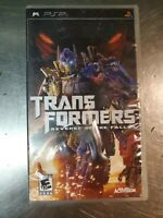 Transformers: Revenge of the Fallen (Sony PSP, 2009). Please see details below..