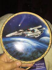 Star Trek The Voyagers Plate Hamilton Collection Triple Nacelled Uss Enterprise