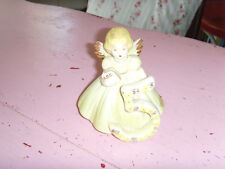 Baby girl toddler Angel Josef Originals Birthday figurine age 5 Vtg holding book