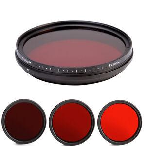 6 in1 55mm Adjustable Infrared Infra-Red IR Lens Filter DSLR 530nm to 750nm