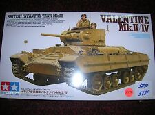 "Tamiya  # 35352 "" Valentine MK.II/IV British "" 1/35  list $52.00  lot # 11477"