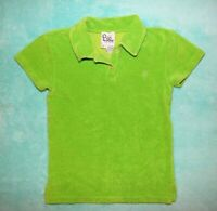 Vintage Lilly Pulitzer Womens Small Lime Green Polo Shirt Palm Tree Logo