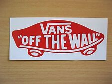 "LARGER SIZE, VANS ""OFF THE WALL"" STICKER / DECAL / SURF/ SINGLET/ CAR, BINTANG."