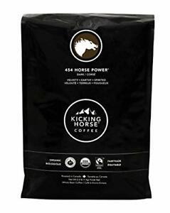 Kicking Horse Coffee 454 Horse Power Dark Roast Whole Bean 2.2 lb - Certified...