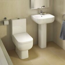 OPTIONS 600 SQUARE TOILET AND SINK WITH SOFT CLOSE SEAT