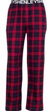 Mens Henleys Lounge Pants Pyjama Bottoms Check Navy Red Tartan Size XL