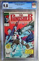Punisher War Journal #7 Wolverine Marvel 1989 CGC 9.8 NM/MT WPages Comic Q0067