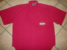vtg 80s 90s Bugle Boy Shirt DayGlo Neon Pink Button Front New Wave Retro Mens Lg