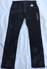 Guess Jeans Slim Straight In Black Wash Size 32