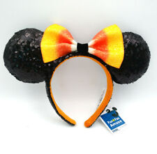 Halloween Candy Corn Bow Minnie Ears Disney Parks Mickey Mouse Sequins Headband
