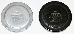 2x Nikon 43mm Early Metal Nippon Kogaku Tokyo Front Caps For 28mm, 35mm, 50mm