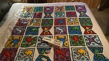 Keith Haring Estate art Tiles, Dominos Full Set 1992, Original Shower Curtain,