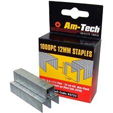 1000 x 12 mm Quality Staples for Staple Gun Office Wall Stapling