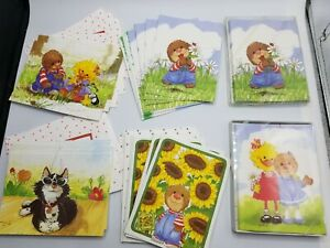 Lot of 36 Adorable Suzy's Zoo Blank Note Cards w/ Envelopes - 5 Designs
