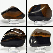 275ct Yellow Blue Tiger Eye Cabochon Pebble Natural Crystal Cab - 4PCS Africa