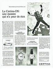 Publicité Advertising 067  1970  montre  La Certina- DS