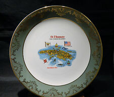 VINTAGE ST THOMAS VIRGIN ISLANDS COLLECTABLE PLATE WEATHERBY FALCON WARE