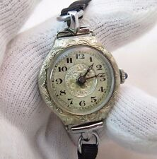 ERIMA Watch Co..16j 1920's Manual Wind,14K Wht Gold Filled, LADIES WATCH,1421