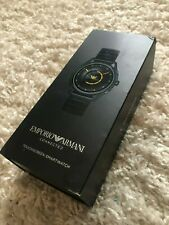 Emporio Armani Stainless Steel Plated Touchscreen Smartwatch Black (ART5007)
