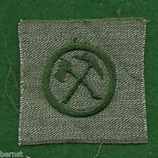 GIRL SCOUT BADGE - FULL SQUARE - PIONEER - GRAY GREEN - UNSEWN