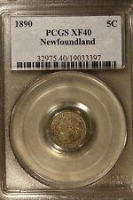 1890 Newfoundland 5 Cent Silver PCGS XF 40          ** FREE U.S SHIPPING **