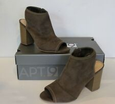 Apt. 9 Women's Sz 6 Open Toed High Heel Shoes Taupe Suede-Look NEW ($59.99 MSRP)