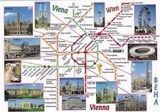 (A) AK U-BAHN-PLAN WIEN / ÖSTERREICH Vienna Austria Subway Map