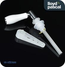 Chrome/White Ceramic Traditional Style Toilet Cistern Flush Lever Handle (005)