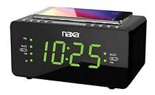"Naxa[r] Nrc-191 Dual Alarm Clock With Qi[r] Wireless Charging [1.2"" Large"