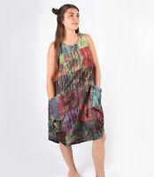 Tie Dye Patchwork Smock Dress