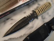 """Black Ronin Double Edge Dagger Boot Knife 5mm Full Tang 420 3288 9 1/2"""" OA New"""