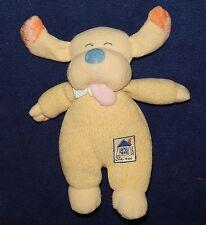 "10"" Carters Emu Namae Going Home Plush Yellow Puppy Dog w/ Rattle"