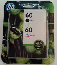 Genuine HP 60 Combo Pack Black & Tricolor Ink Exp 6/2015 SEALED NIB NOS Sealed