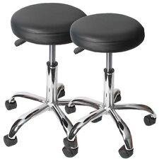 2x tabouret Windhoek pour cabinet médical / salon de beauté ~ similicuir, noir
