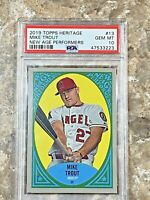 2019 Topps Heritage New Age Performers Mike Trout #13 PSA 10 GEM MINT LA Angels