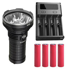 Acebeam X45 CREE XHP70 LED Flashlight w/I4 Charger & 4x Sanyo 3500mAh Batteries