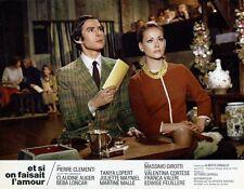 PIERRE CLEMENTI CLAUDINE AUGER ET SI ON FAISAIT L'AMOUR 1968 LOBBY CARD PHOTO #3