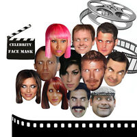 Celebrity Face Masks Hen Stag Party Christmas Birthday Fun Fancy Dress Mask Card