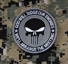PUNISHER GOD WILL JUDGE OUR ENEMIES Navy SEAL No Easy Day Zero Dark Thirty MOH