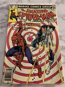The Amazing Spiderman #201 Spiderman and The Punisher Newsstand