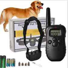Electric lcd rechargeable choc e-collar remote control dog training anti-bark