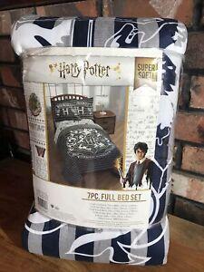 HARRY POTTER Blue Comforter Bedding Set 7PC Full Sz, Sheets, Sham, Pillowcases