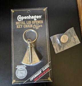 NIP Copenhagen Metal Lid Opener Cutter Key Chain & 175th Anniversary Hat Pin
