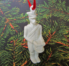 White Porcelain Toy Soldier Ornament - Biscuit Porcelain - Hutschenreuther