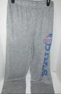 New Men's Buffalo Bills Heathered Gray Layover Marled Knit Tri-Blend Pants Med